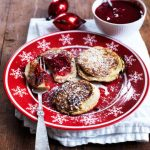 Aebleskiver - apple slices - a healthy take on this traditional Danish Christmas recipe. Low carb, gluten free ang sugar free. Recipe here: MyCopenhagenKitchen.com