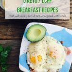 Low carb -LCHF -keto breakfast that will keep you full until lunch
