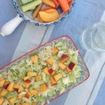 Fresh Summer salad with cabbage, lemon and peaches. Brilliant for those warm BBQ nights. Easy recipe - only 4 ingredients - here: MyCopenhagenKitchen.com