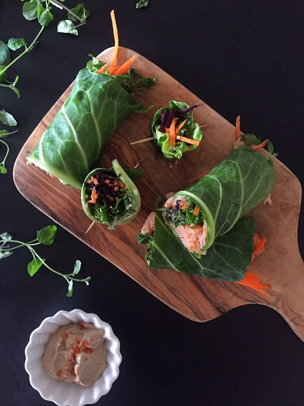 Green fresh spring rolls. Vegetarian and flexitarian (with fish). Easy and delicious recipe --> MyCopenhagenKitchen.com