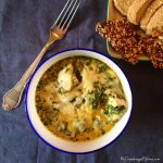 Creamy spinach with cheese and chicken. Comfort food LCHF - Keto style! --> MyCopenhagenKitchen.com